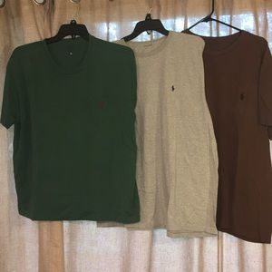 Three Polo Ralph Lauren t shirts